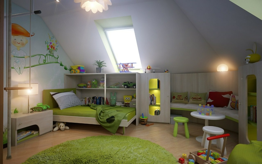 Image of: Attic Bedroom Design