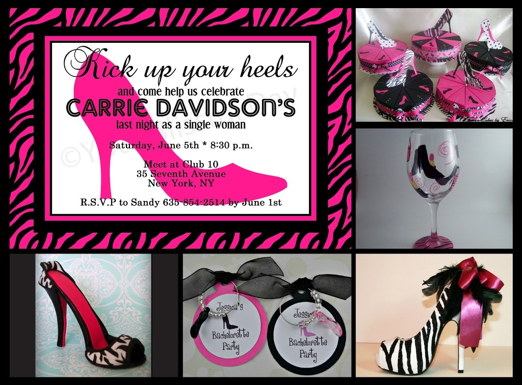 Image of: Bachelorette Party Invitation