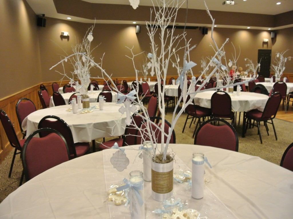 Baptism Centerpiece Decorations