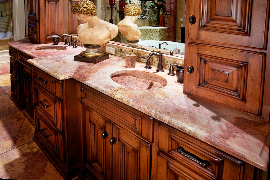 Image of: Bathroom Countertop Materials