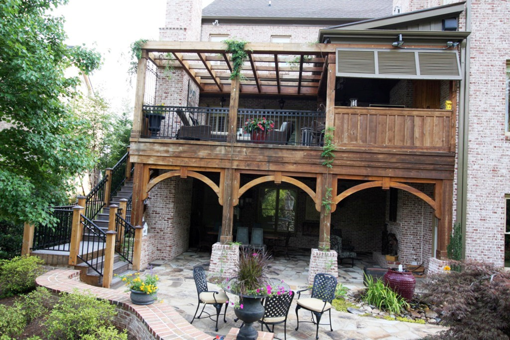Image of: Covered Deck Pictures