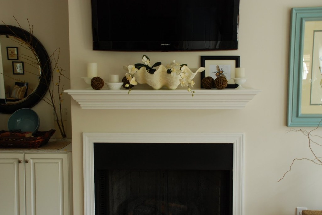 Image of: Decorating Mantel For Christmas