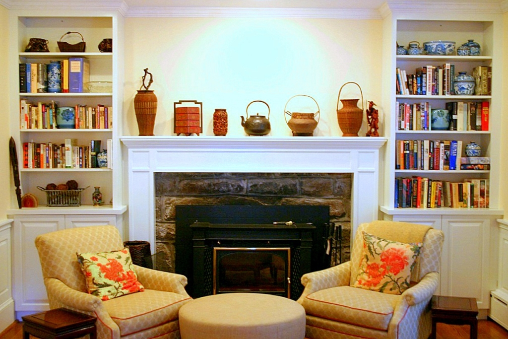 Image of: Decorating Mantel