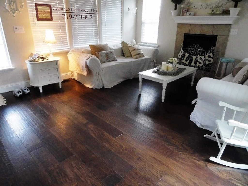 Image of: Distressed Hickory Flooring