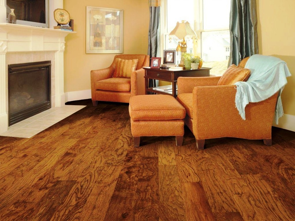 Image of: Distressed Solid Hardwood Flooring