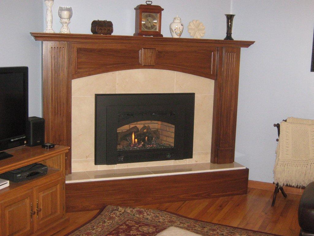 Image of: Fireplace Surround Tile Designs Ideas