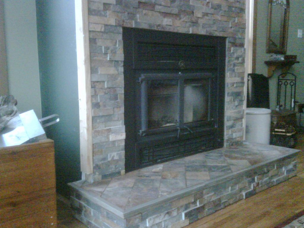 Image of: Fireplace Surrounds Tile Designs Ideas