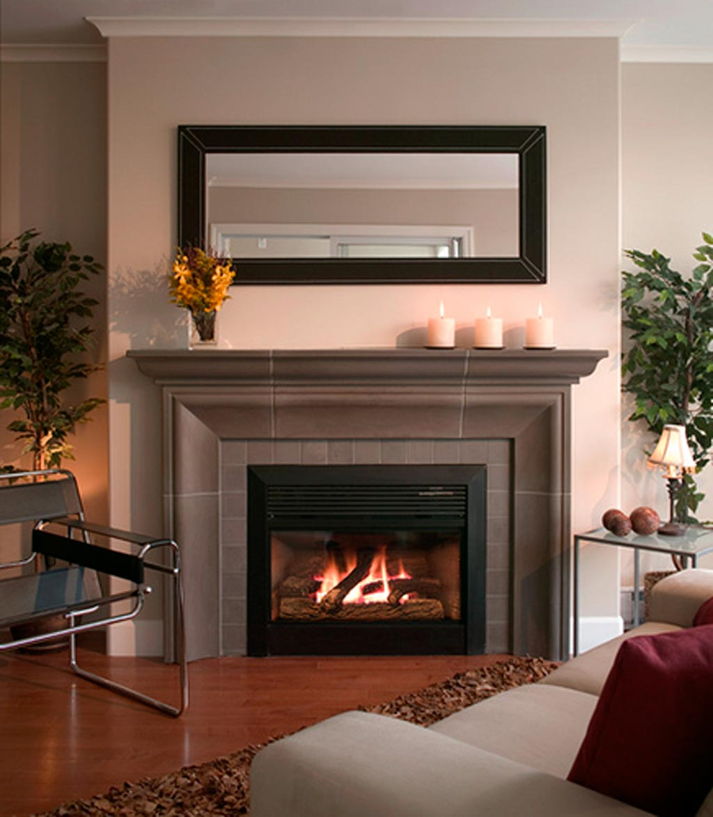 Image of: Fireplace Surrounds Tile