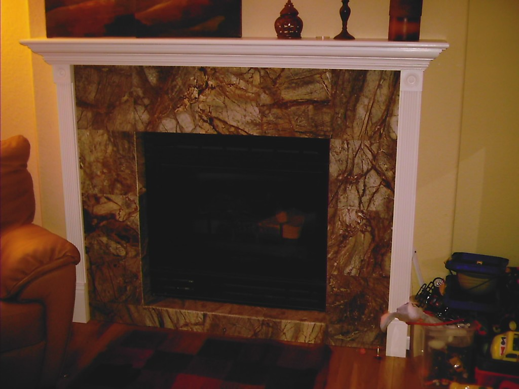 Image of: Fireplace Tile Surround Designs