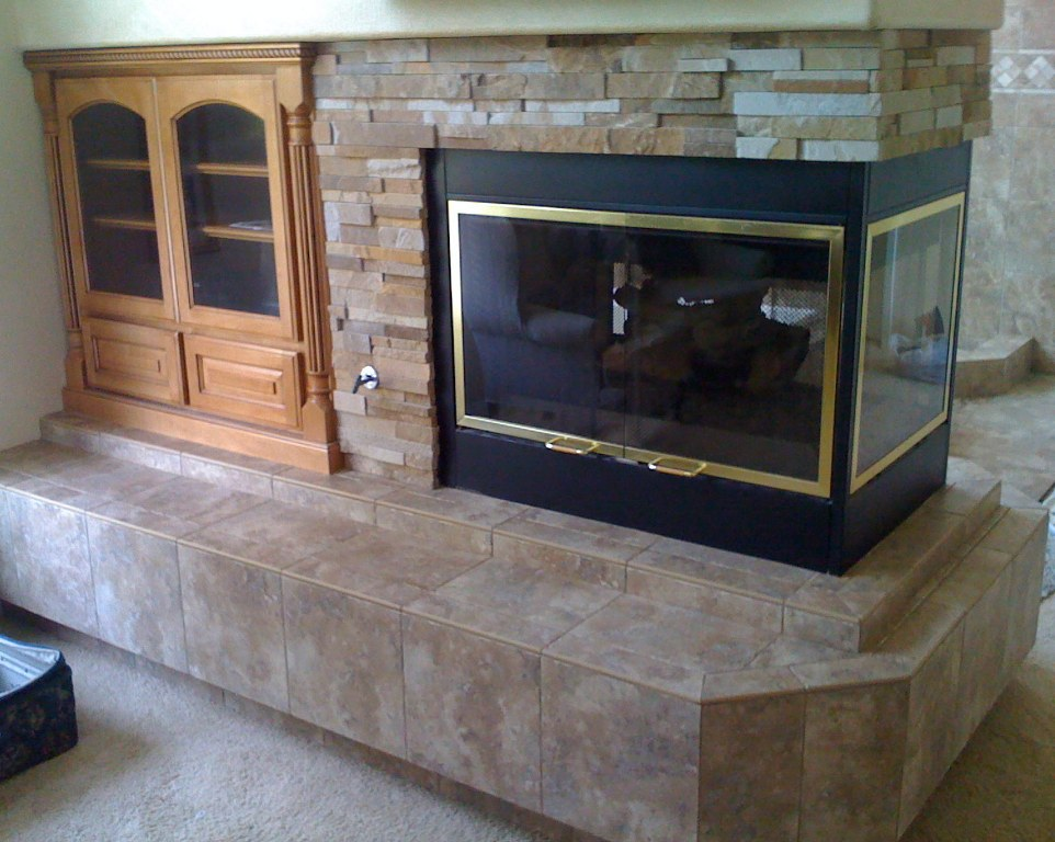 Image of: Fireplace Tile Surround