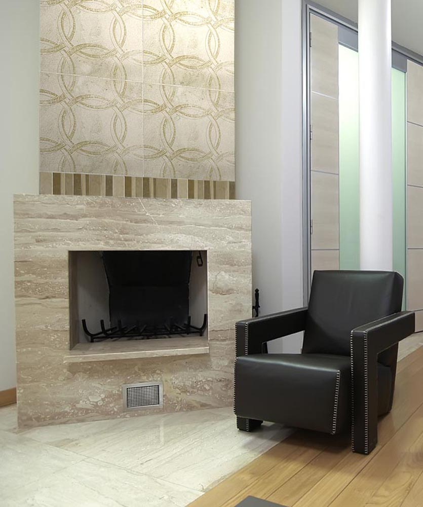 Image of: Fireplace Tiled