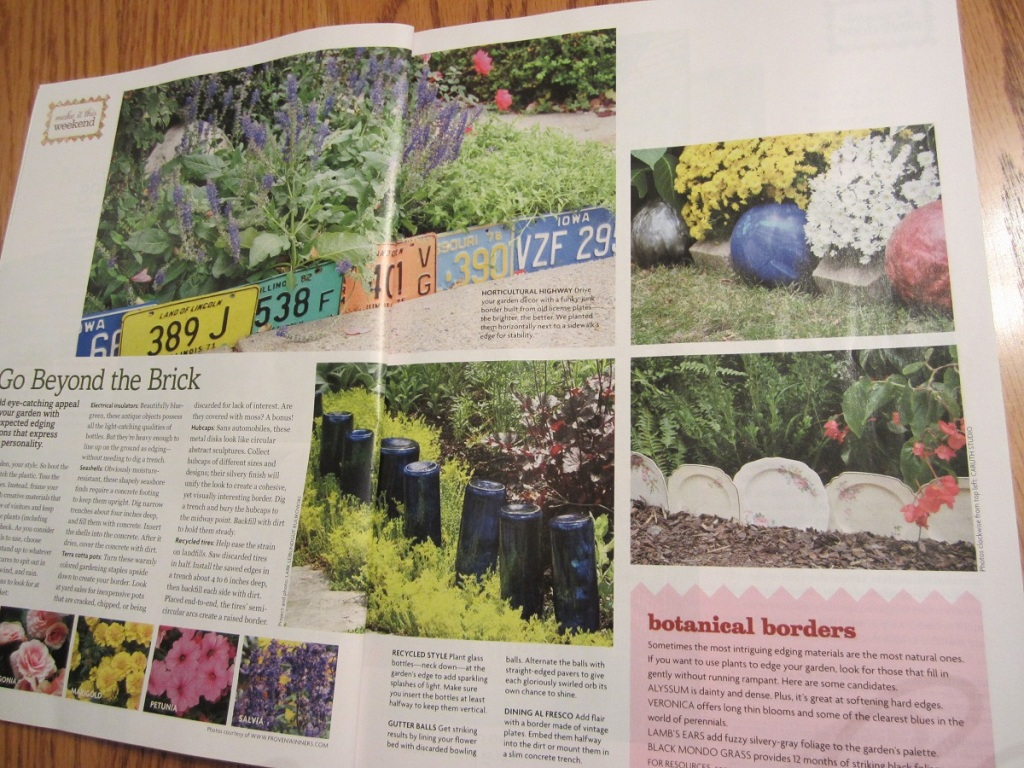 Image of: Garden Edging Magazine