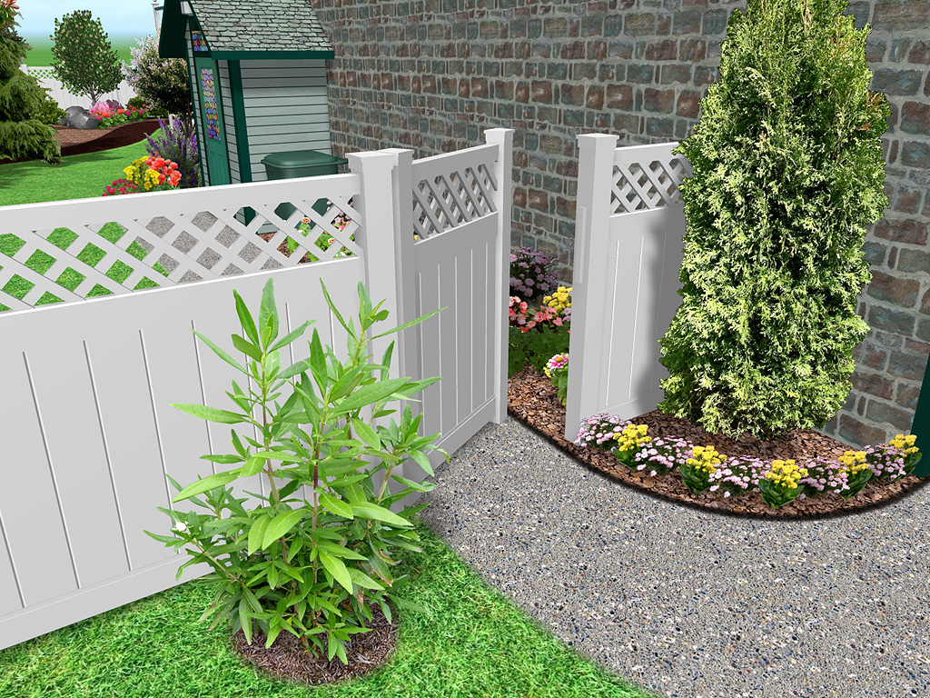 Image of: Garden Fence Diy