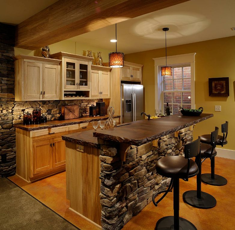 Image of: Kitchen Bar And Stools