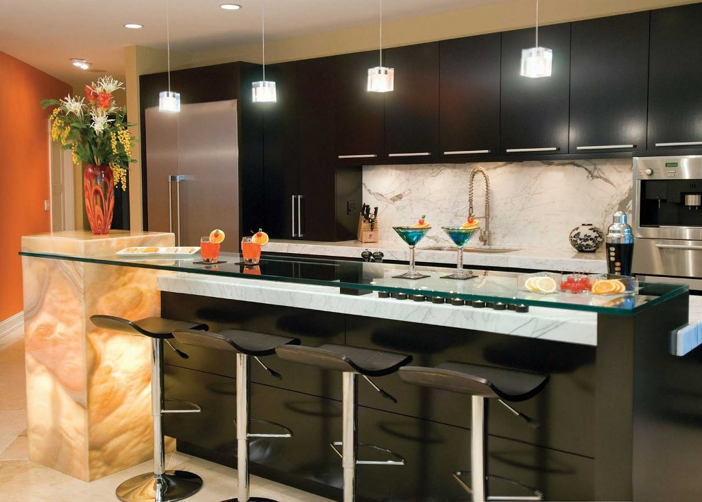 Image of: Kitchen Bar Top Ideas