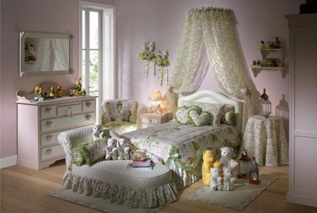 Image of: Shabby Chic Little Girl Bedroom Color Ideas