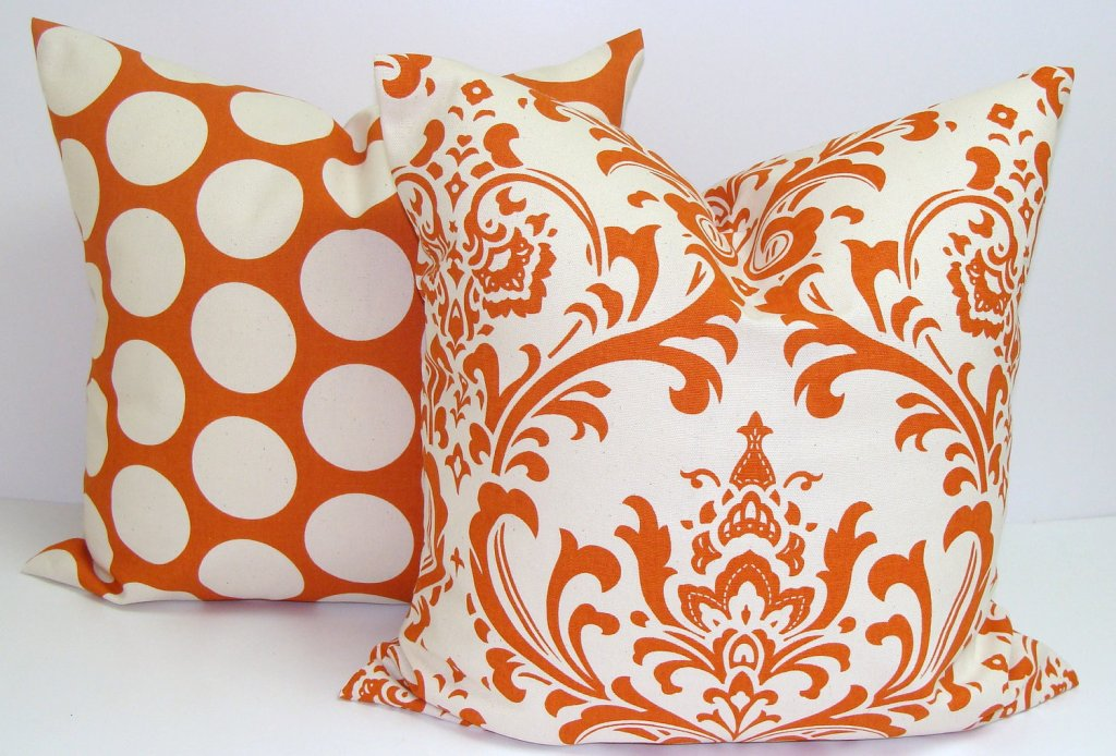 Orange Toss Pillows