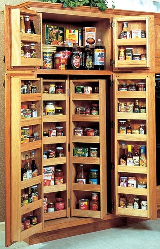 Image of: Pantry Storage Shelves Solutions