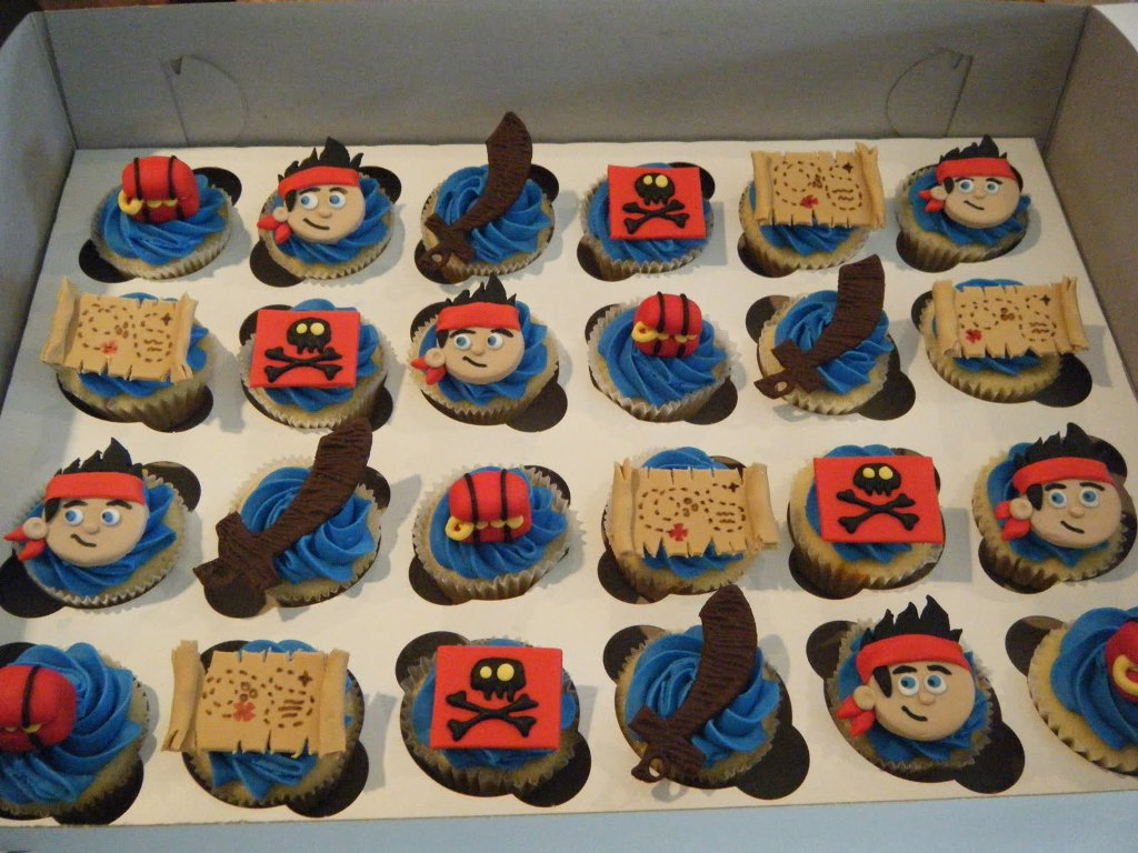 Image of: Pirate Cupcake Picks