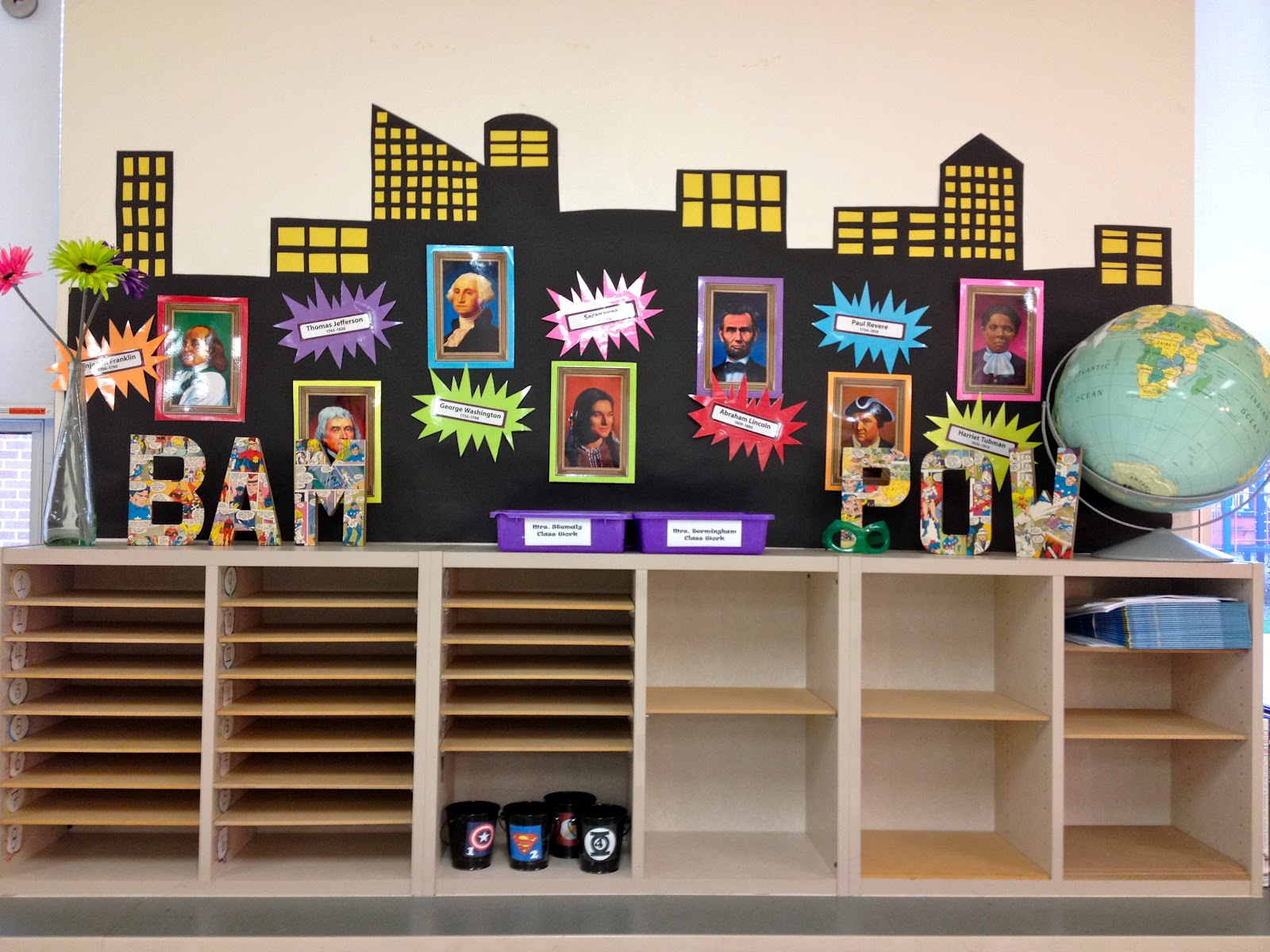Image of: Superhero Classroom Decor Designs Ideas
