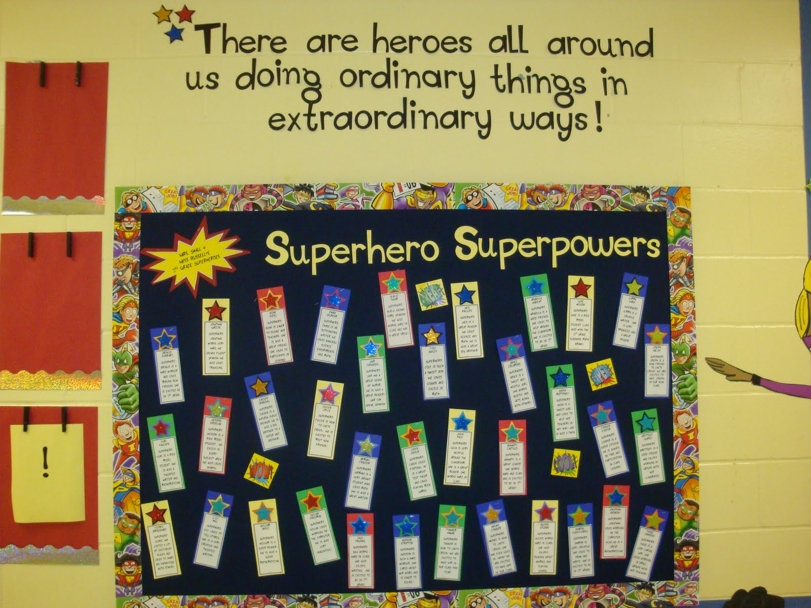 Image of: Superheroes Ideas Classroom