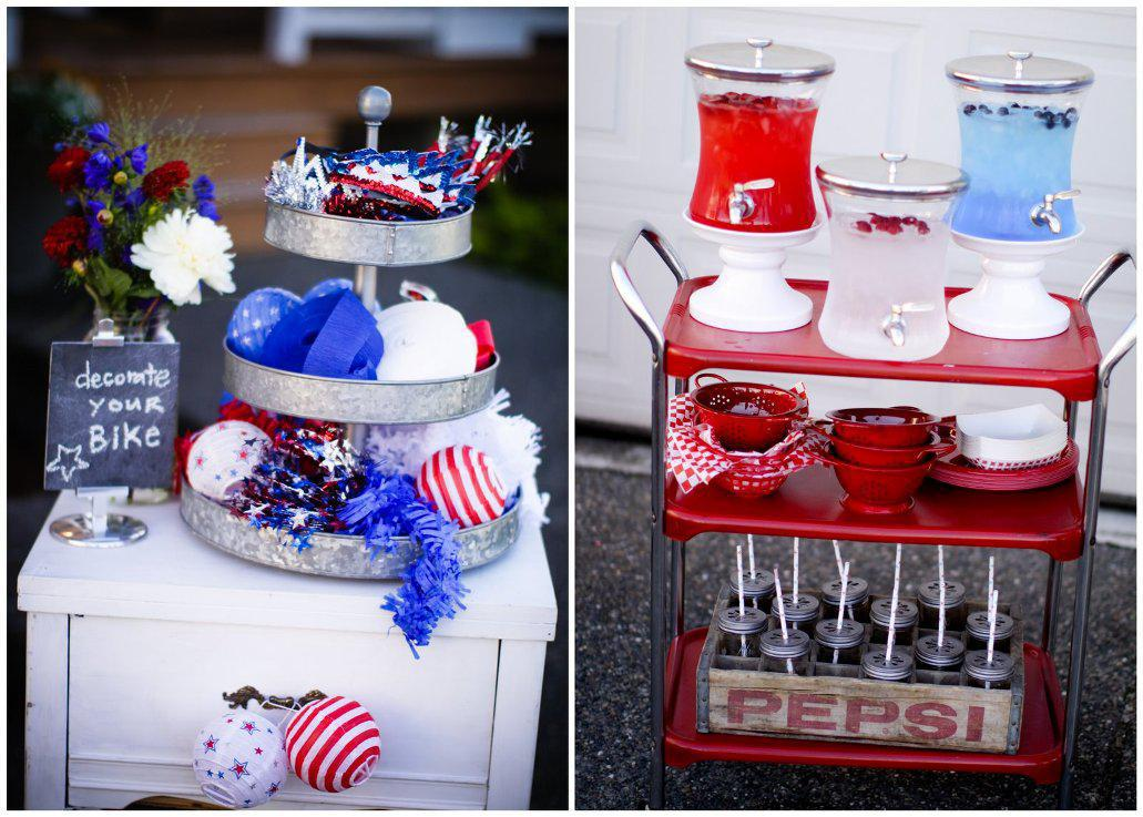 Image of: 4th of July Decorations Crafts