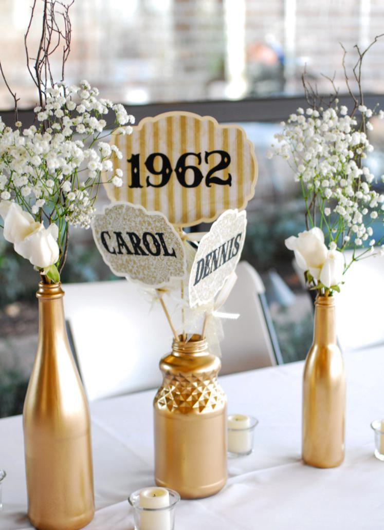 Image of: 50th Wedding Anniversary Decorations Party Supplies