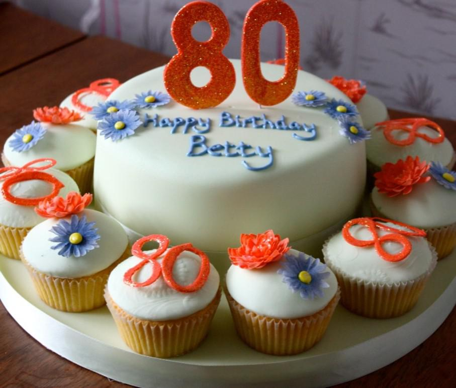 Image of: 80th Birthday Cake