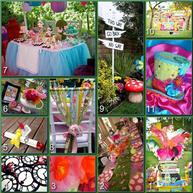 Image of: Alice In Wonderland Party Decorations