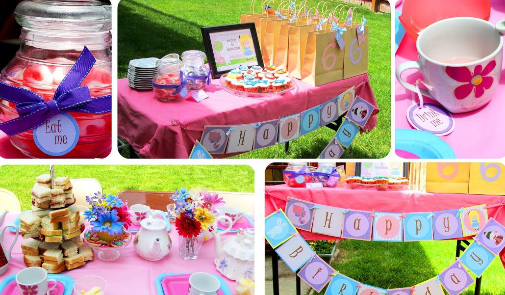 Image of: Alice In Wonderland Party Ideas