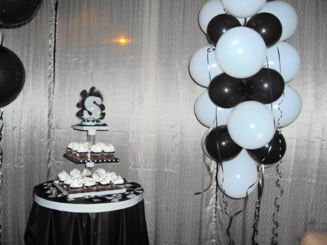 Image of: Awesome Black and White Party Decorations