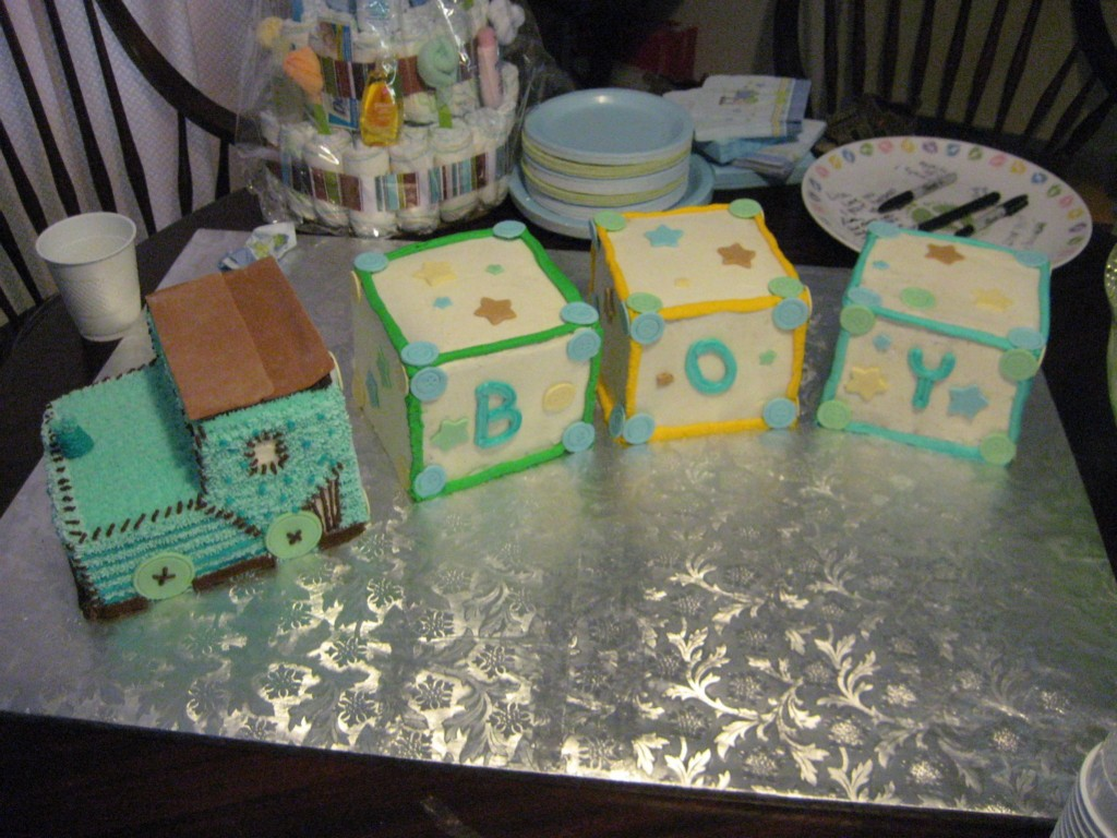 Image of: Baby Shower Cakes Boys