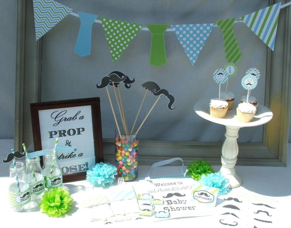 Image of: Baby Shower Decorations For Boys