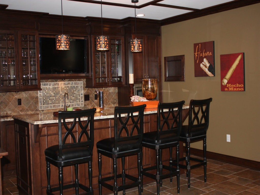 Image of: Basement Bar Ideas Rustic
