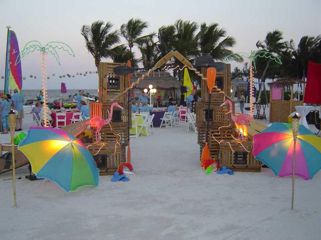 Image of: Beach Party Decoration Images