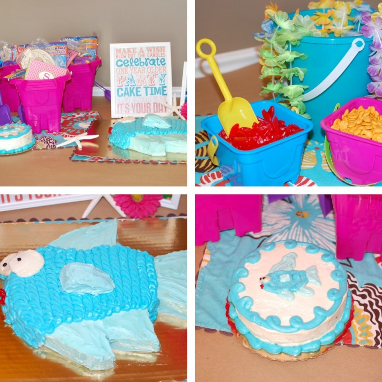 Image of: Beach Party Table Decorations