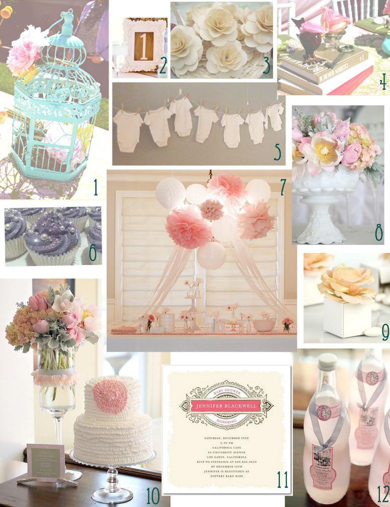 Image of: Creative Baby Girl Shower Decorations Ideas