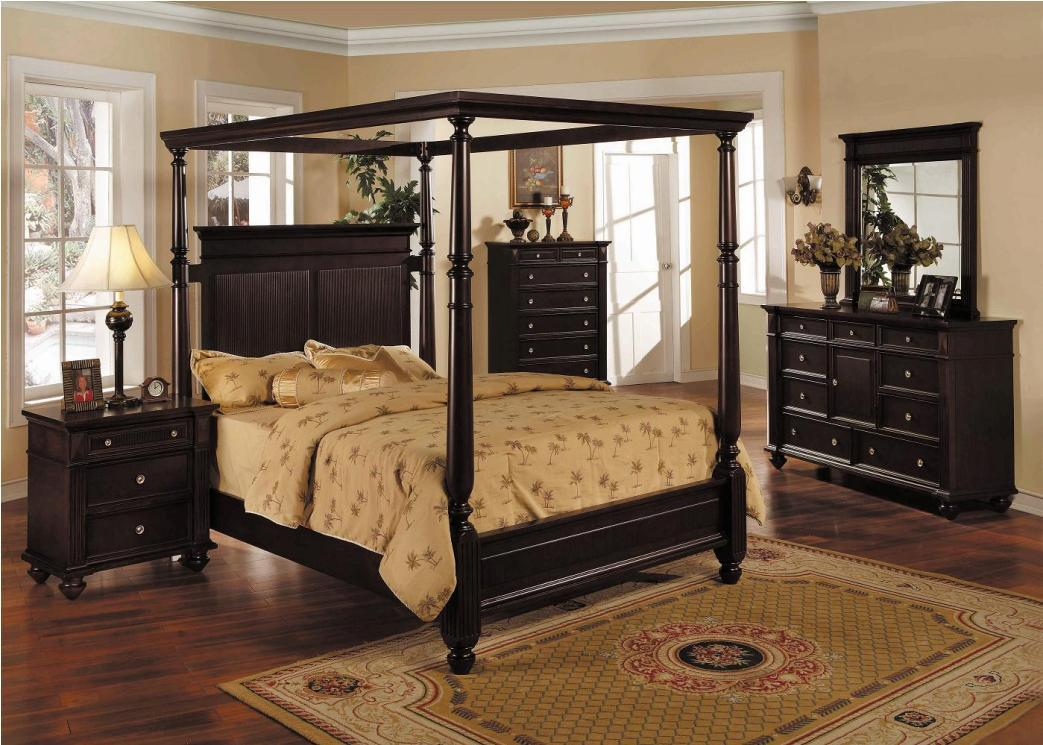 Image of: Black Canopy Bed Frame