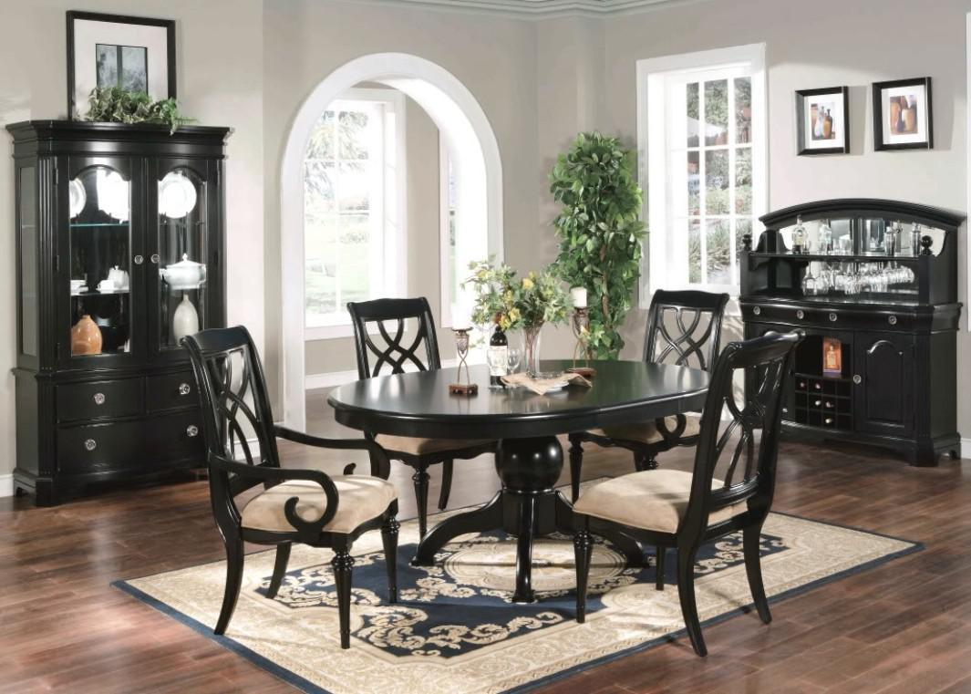 Image of: Black Formal Dining Room Sets