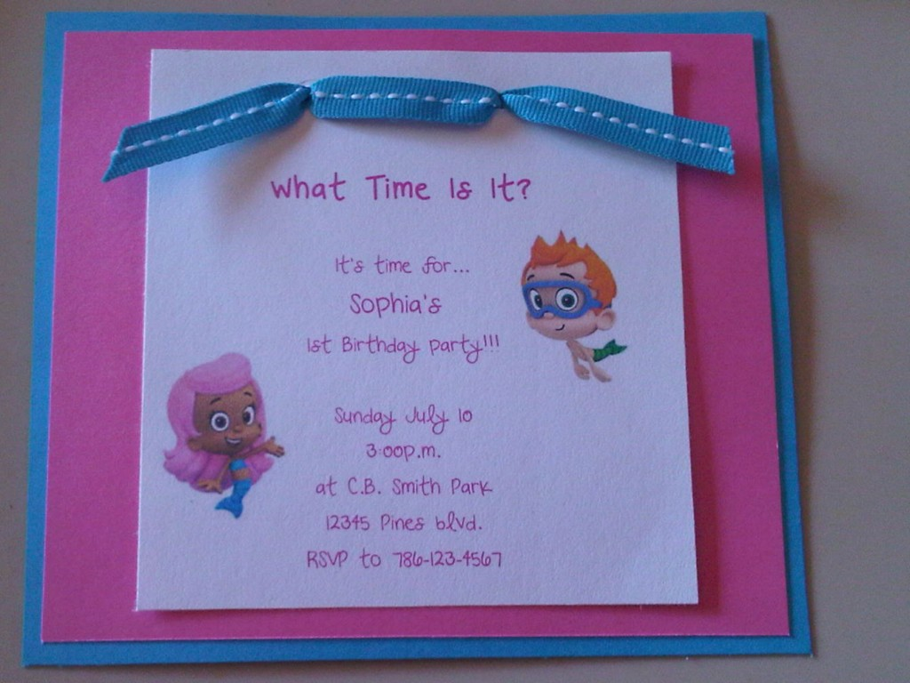 Image of: Bubble Guppies Birthday Cards