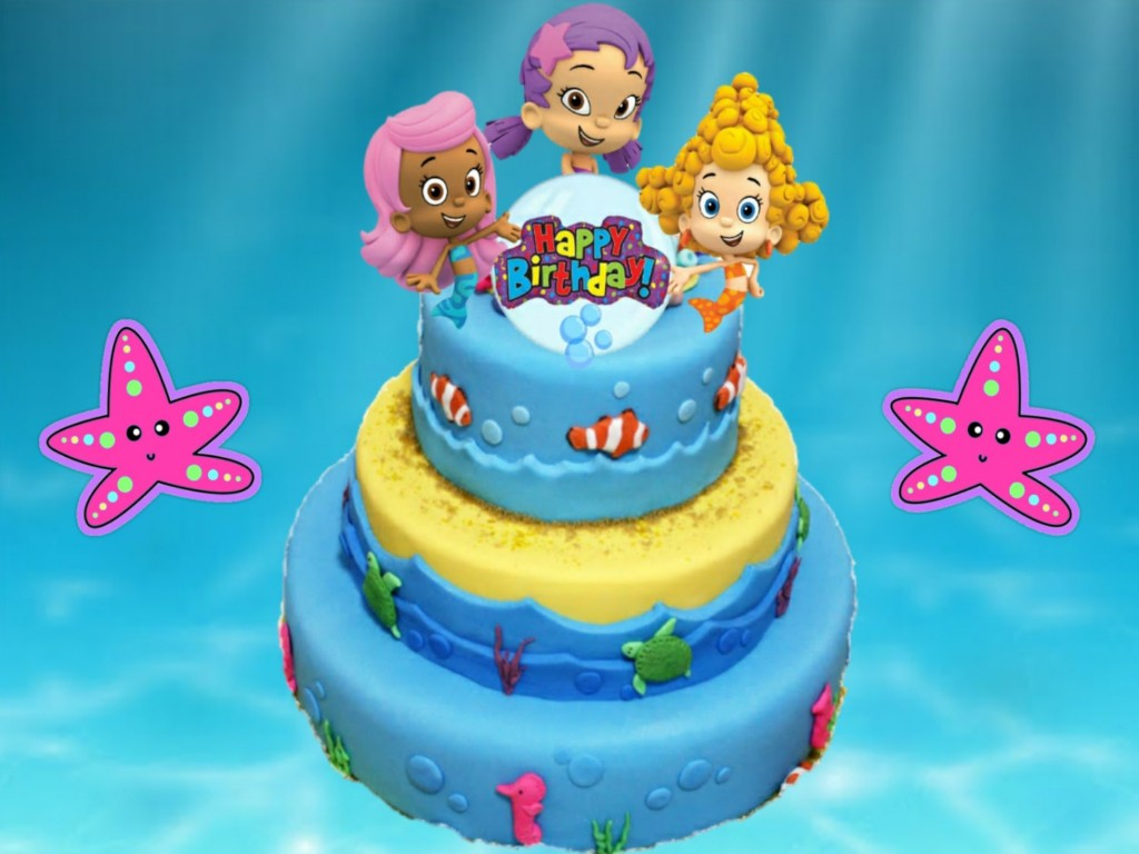 Image of: Bubble Guppies Birthday Party Cake