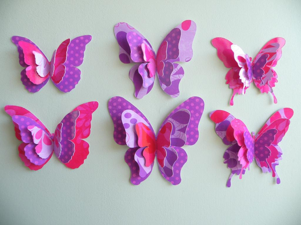 Image of: Butterflies On The Wall