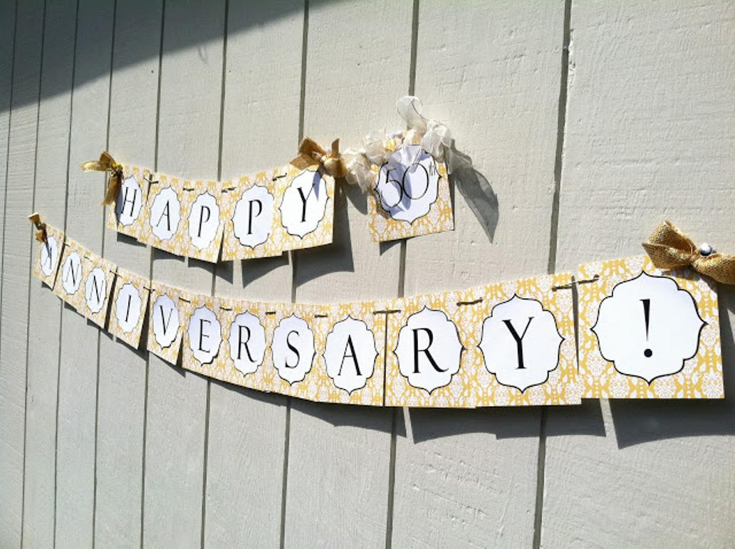 Image of: Charming 50th Wedding Anniversary Decorations