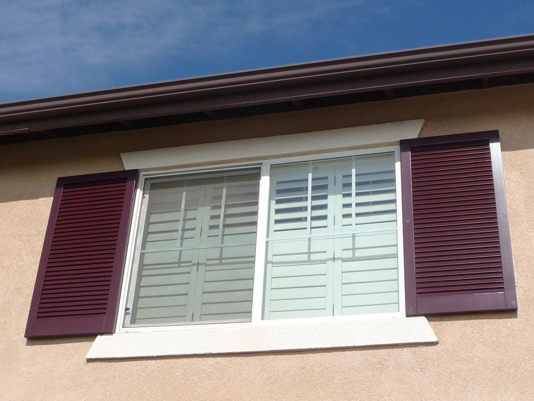 Image of: Cheap Exterior Shutters