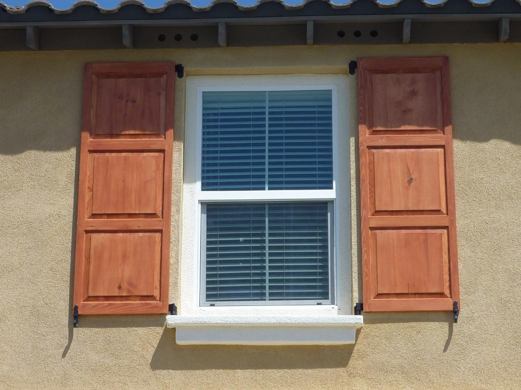 Image of: Cheap Exterior Wood Shutters