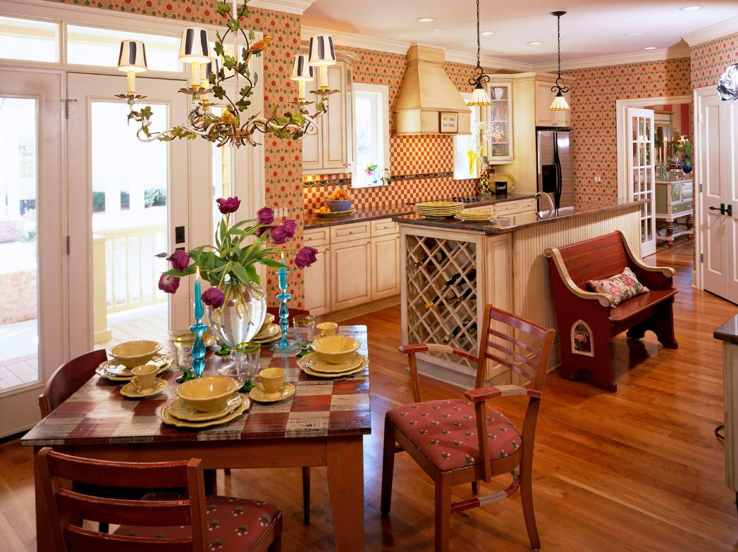 Image of: Country Dining Room Furniture