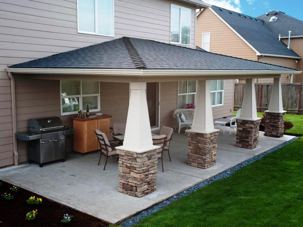 Image of: Covered Patio Designs Ideas Outdoor
