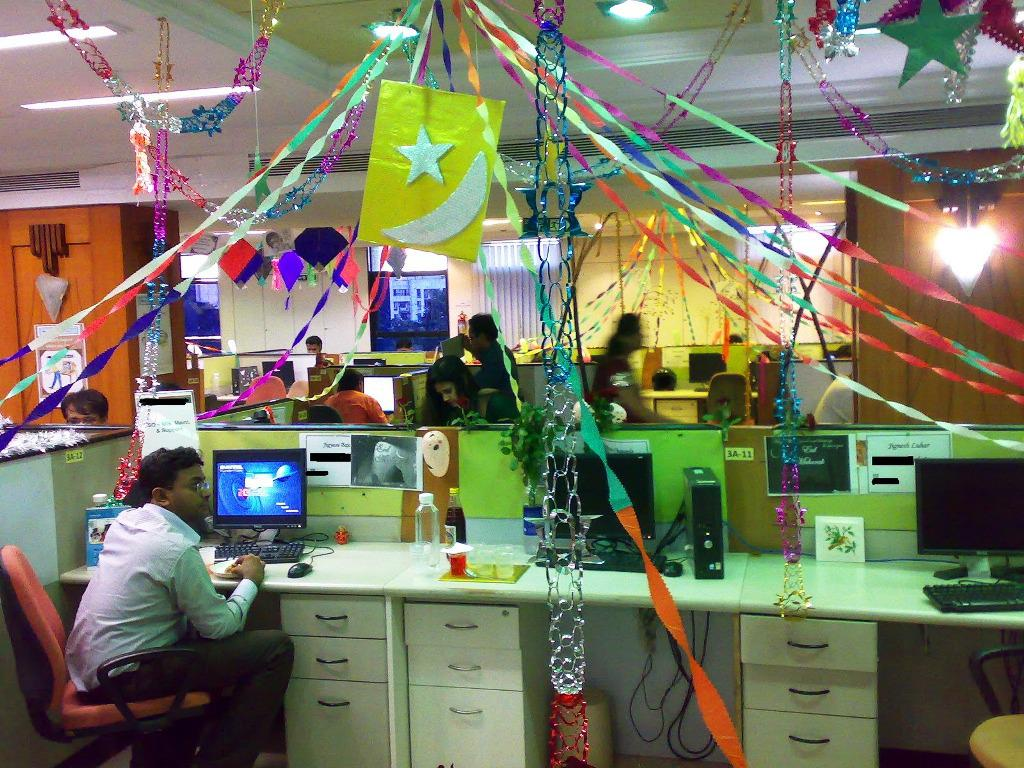 Image of: Cubicle Birthday Decorations