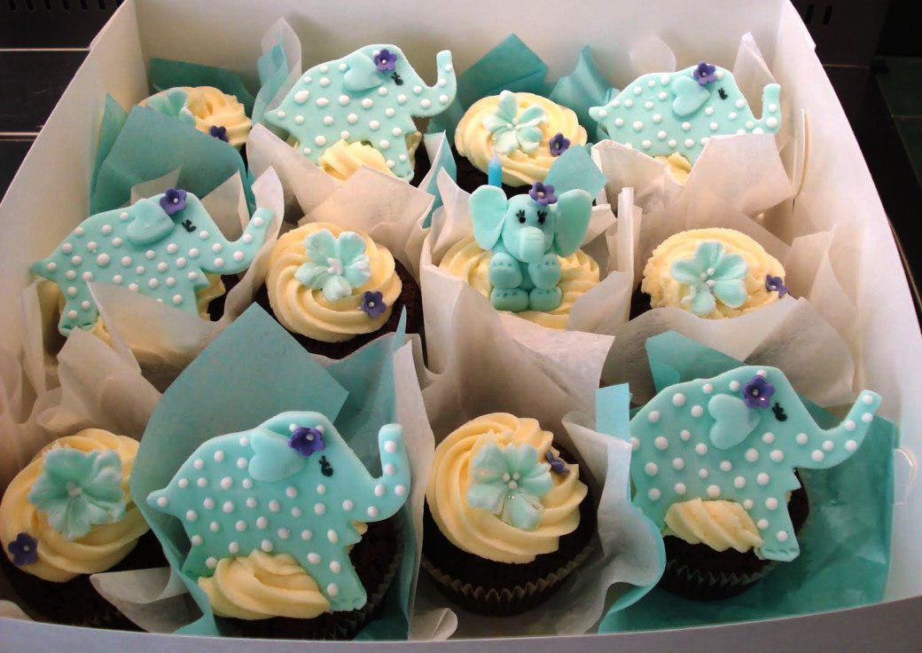 Image of: Cupcake Decorations Baby Shower