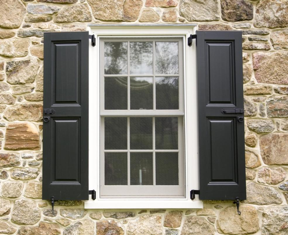Image of: Custom Exterior Shutters